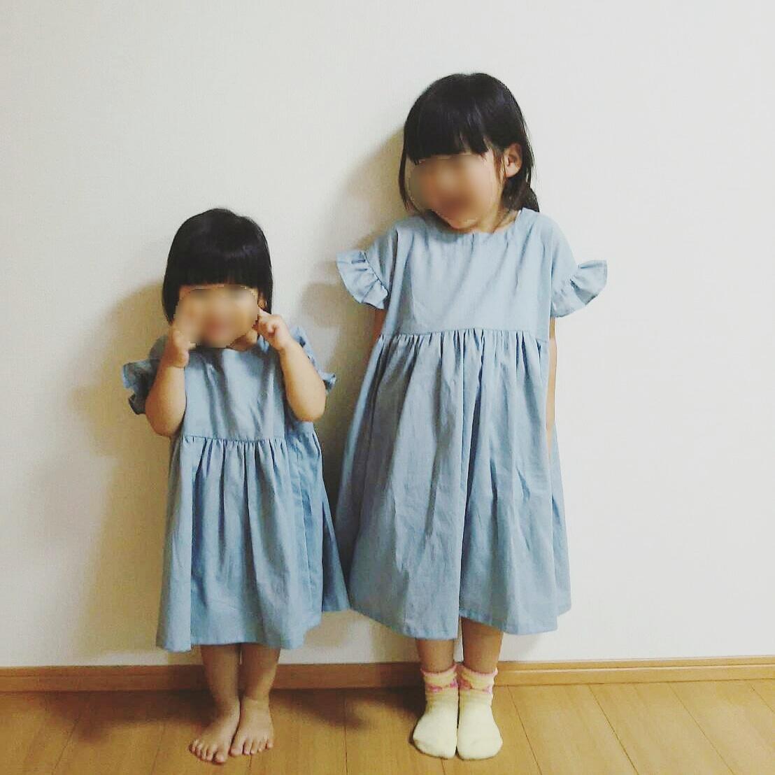 子供 服 シャーリング ワンピース 作り方